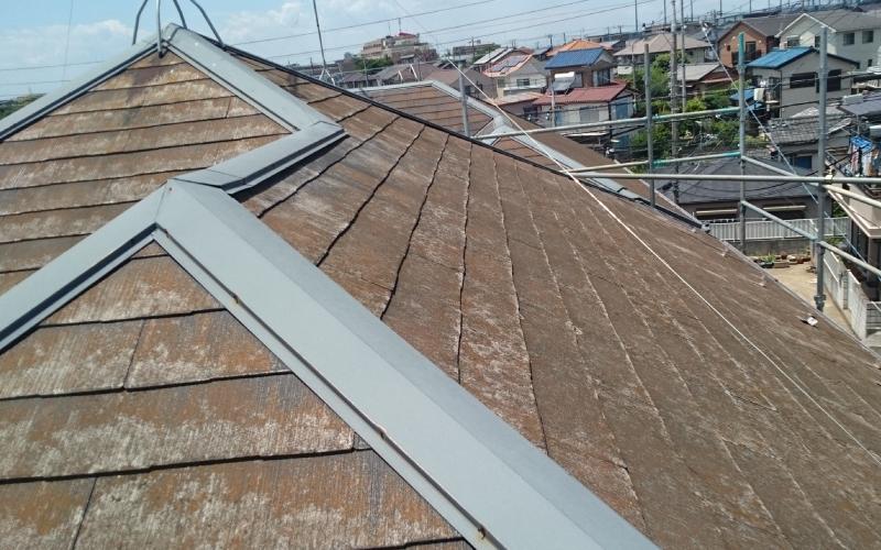 スレート屋根のコケ