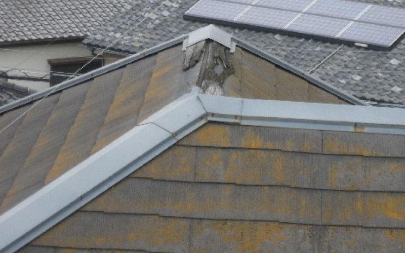 スレート屋根の貫板の腐食
