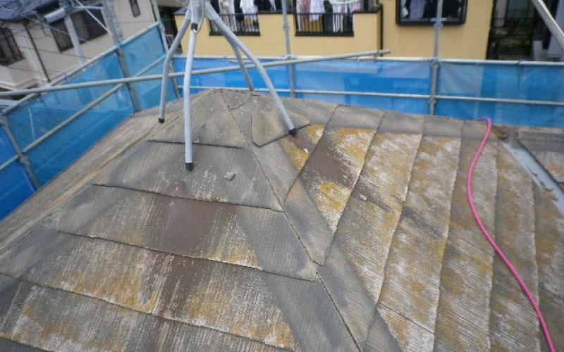 棟板金の貫板の撤去