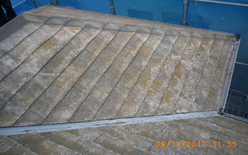 スレート屋根の貫板の撤去