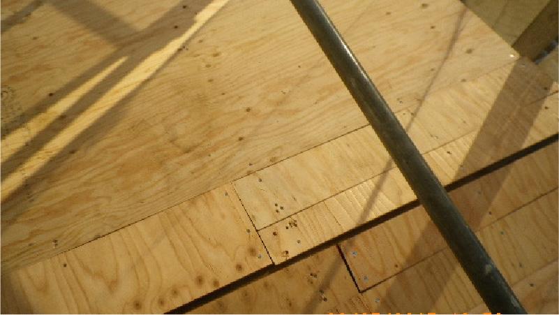 野地板(コンパネ)の設置