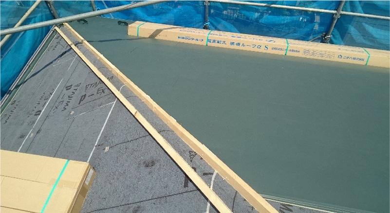 屋根材の設置
