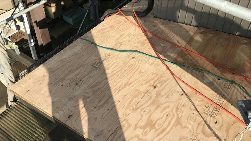 野地板()コンパネの設置