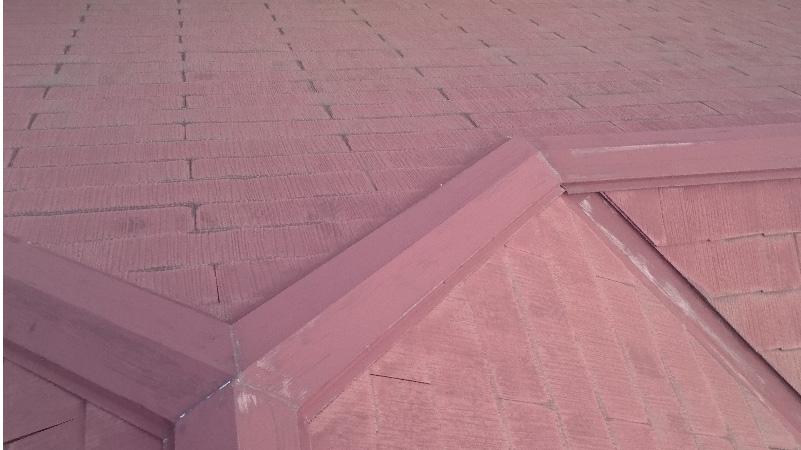 スレート屋根の棟板金のチョーキング現象
