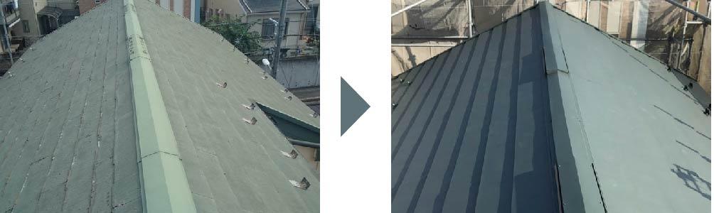 屋根カバー工法の施工事例