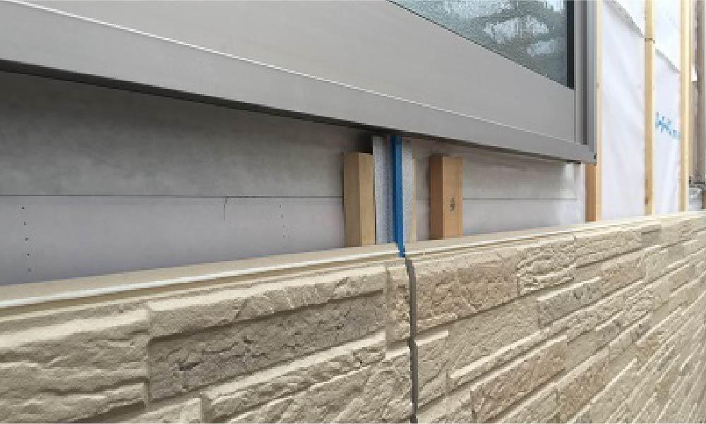 外壁サッシの部分補修