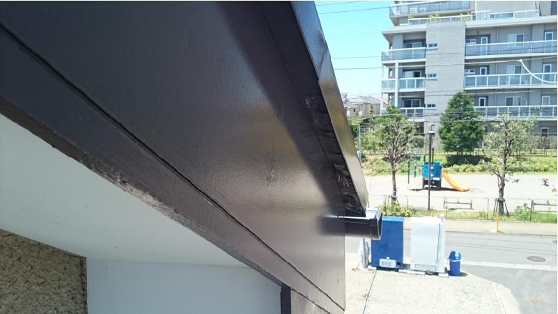 施工前の破風板の状態