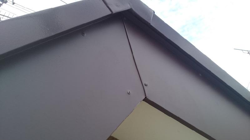 破風板の板金工事の施工後