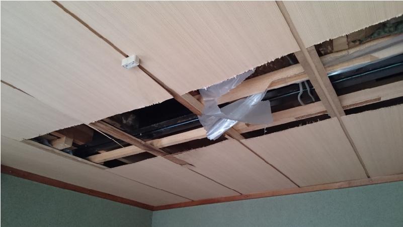 市川市の天井の雨漏り修理