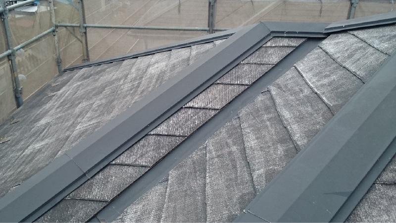 高圧洗浄後のスレート屋根の状態