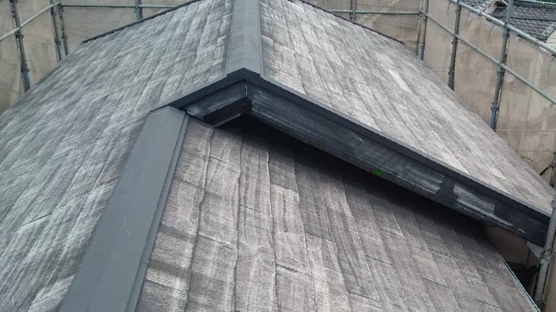 高圧洗浄後の破風板の状態