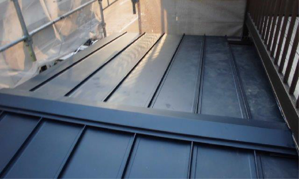 我孫子市のトタン屋根の葺き替え工事