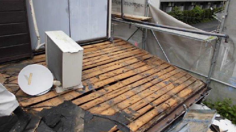 トタン瓦棒の撤去