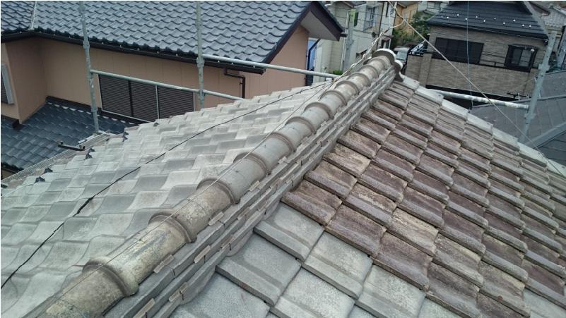 大屋根の棟の状態