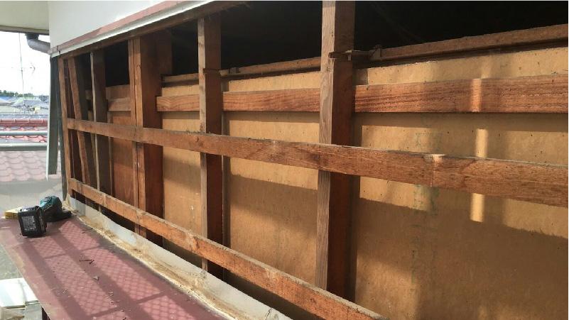 外壁材の撤去