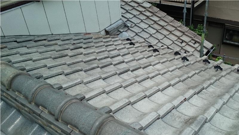 大屋根の施工前の状態