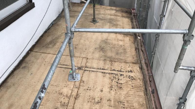 トタン屋根材の撤去
