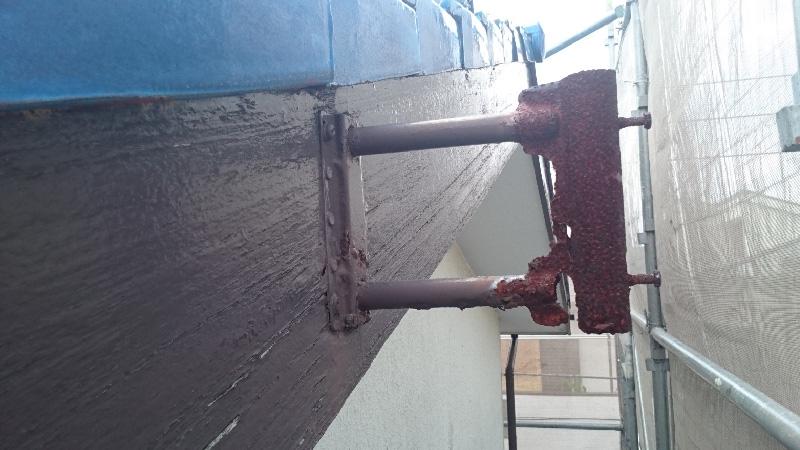 破風板の板金工事前の状態