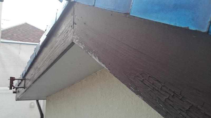 破風板の板金工事の前の状態