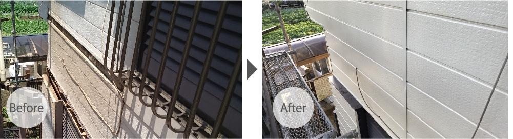 佐倉市の屋根葺き替えと外壁張り替え工事のビフォーアフター
