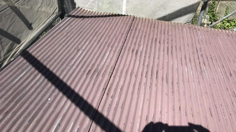 屋根の葺き替え工事施工前の様子