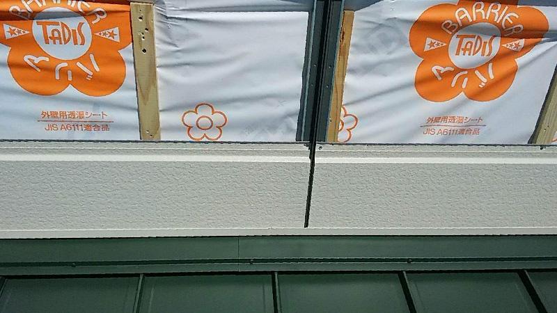 窓塞ぎの施工