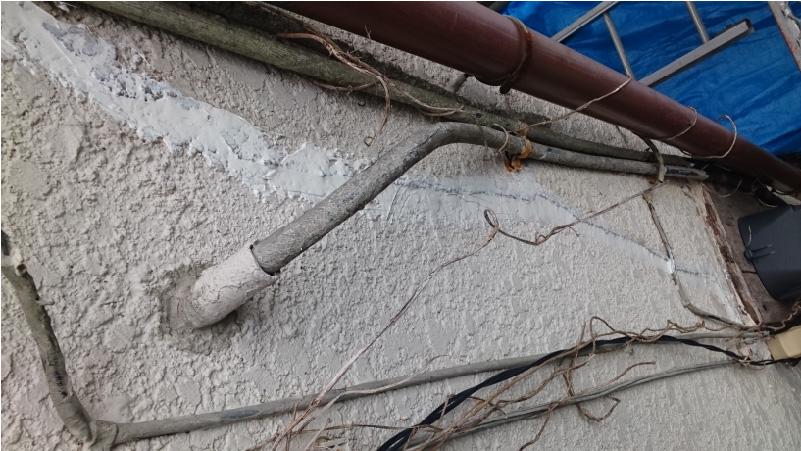 外壁の構造クラックの補修