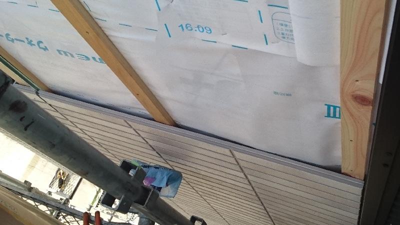 外壁材の設置