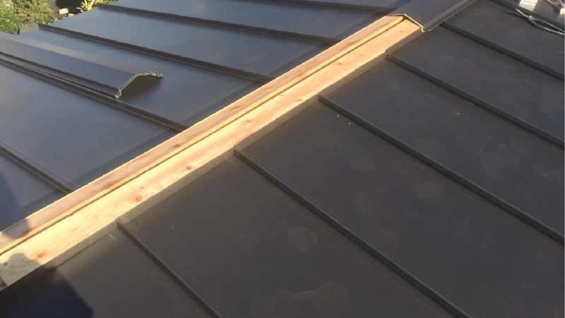 屋根の棟の貫板の状態