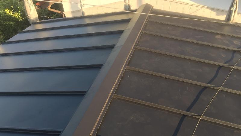 屋根の棟板金(包板)の設置