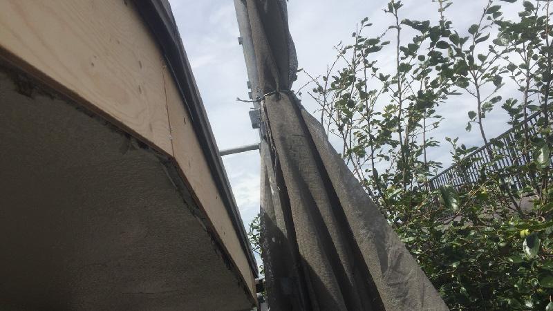 破風板の解体と交換