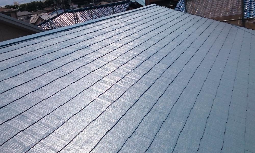 我孫子市の屋根塗装の様子