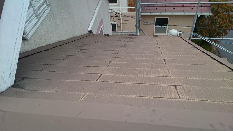 チョーキング現象の発生した屋根