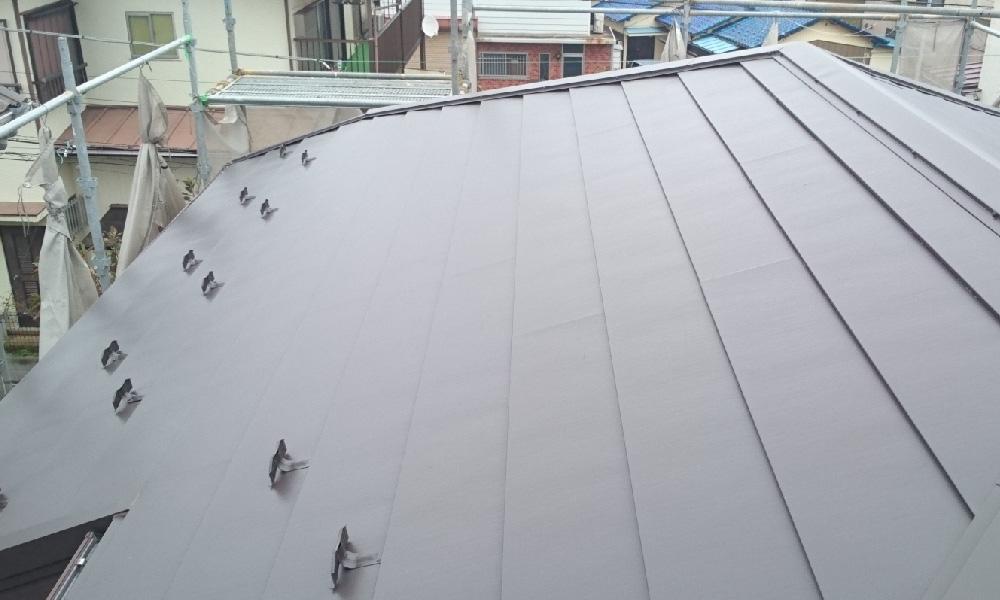 流山市の屋根葺き替え工事
