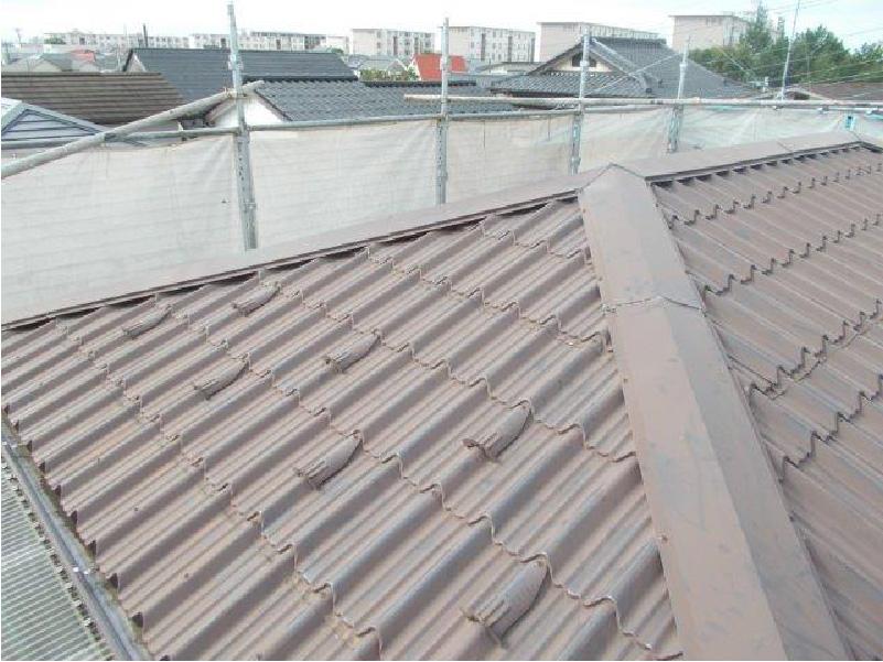 上屋根の施工前の様子