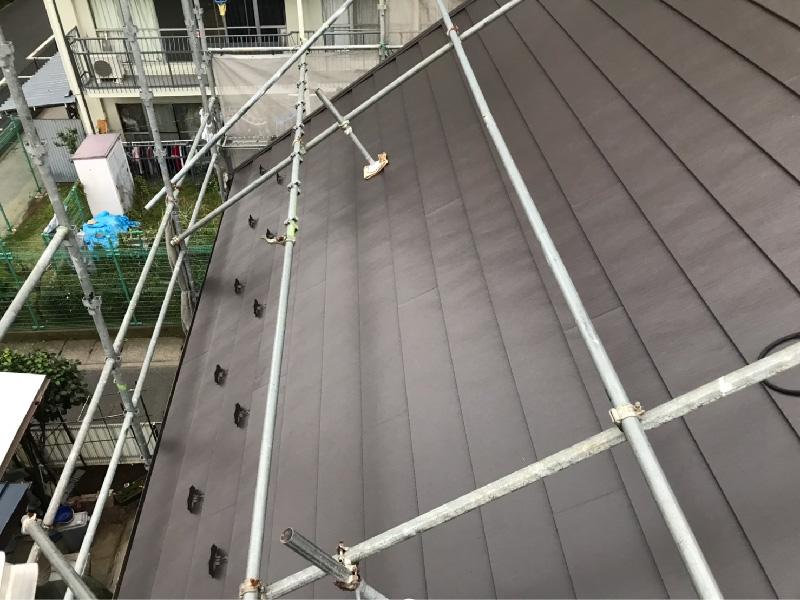 施工後の屋根全体の状態