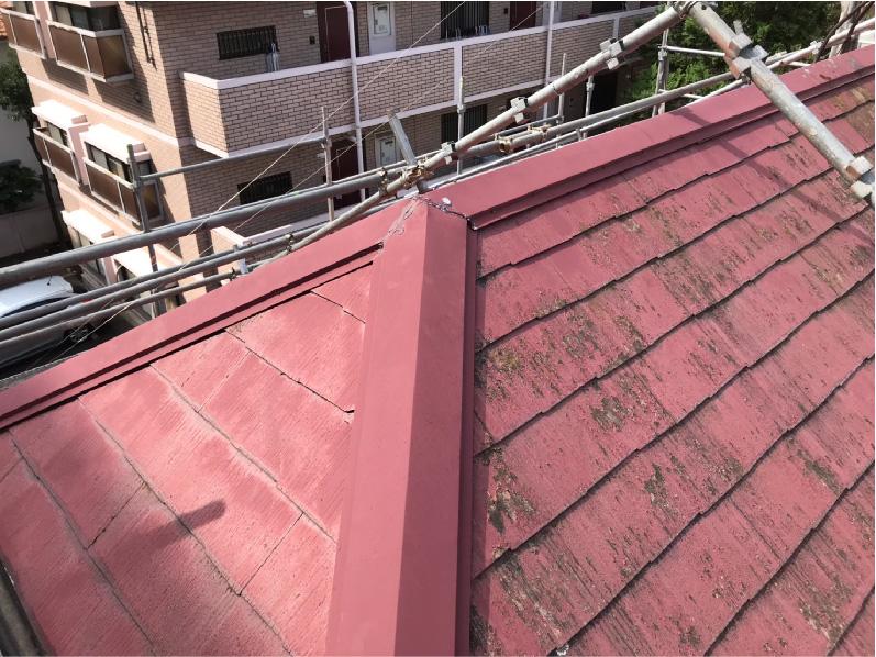 印西市の屋根リフォームの施工前の様子