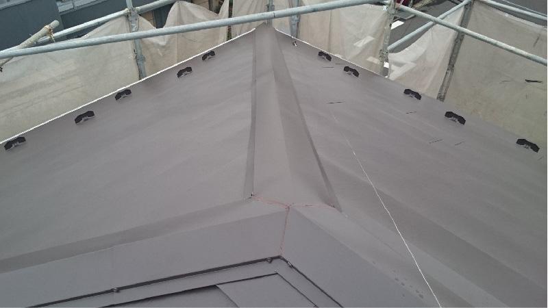 大屋根の施工後の様子