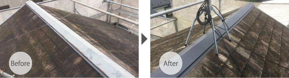 屋根板金交換工事のビフォーアフター
