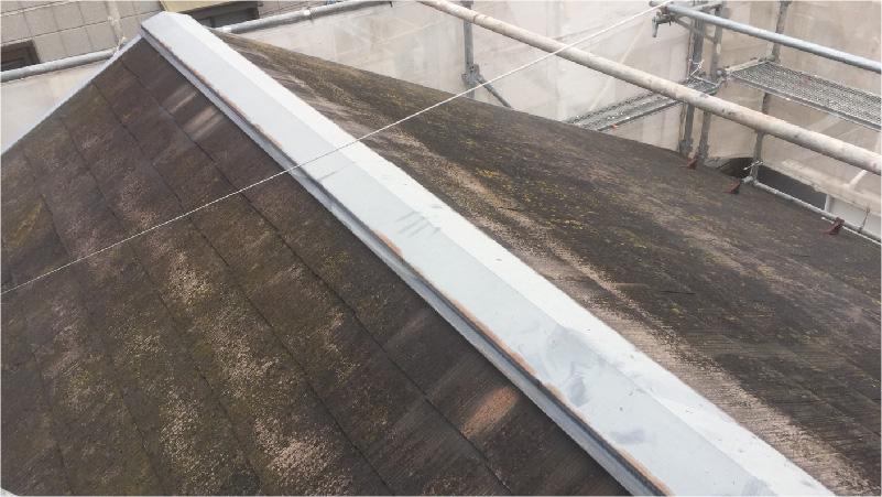 屋根板金工事の施工前の様子