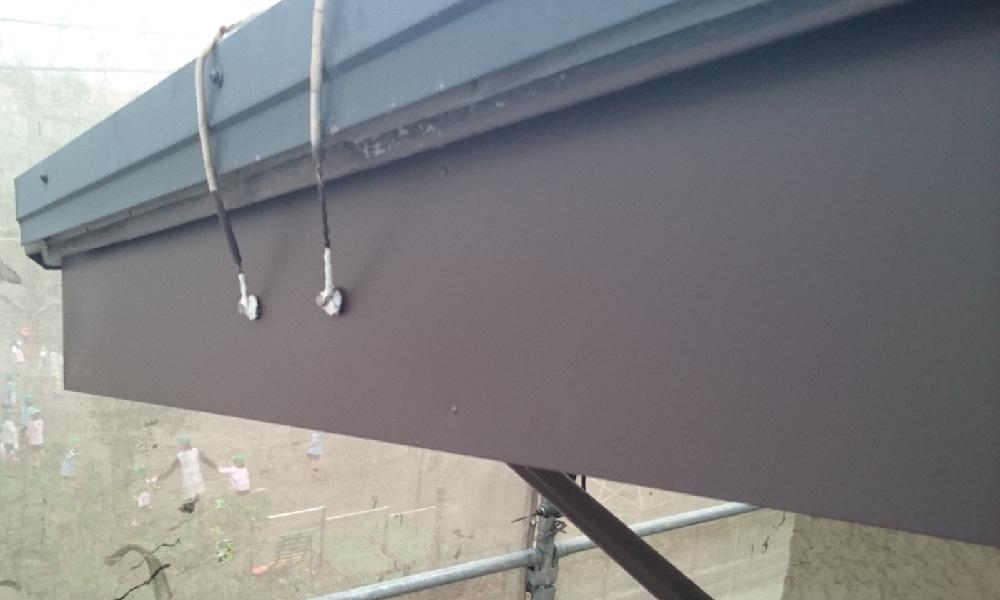 破風板の塗装後の写真