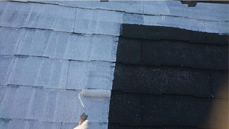 葛飾区の屋根塗装の下塗り工程
