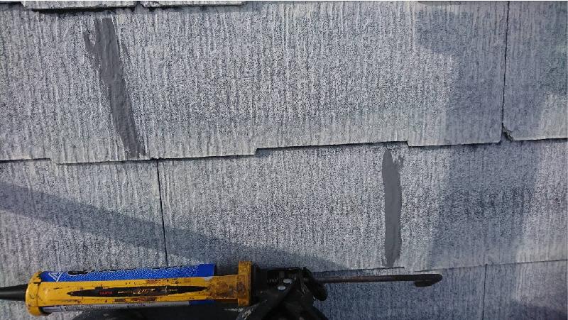 葛飾区の屋根塗装のクラックの補修