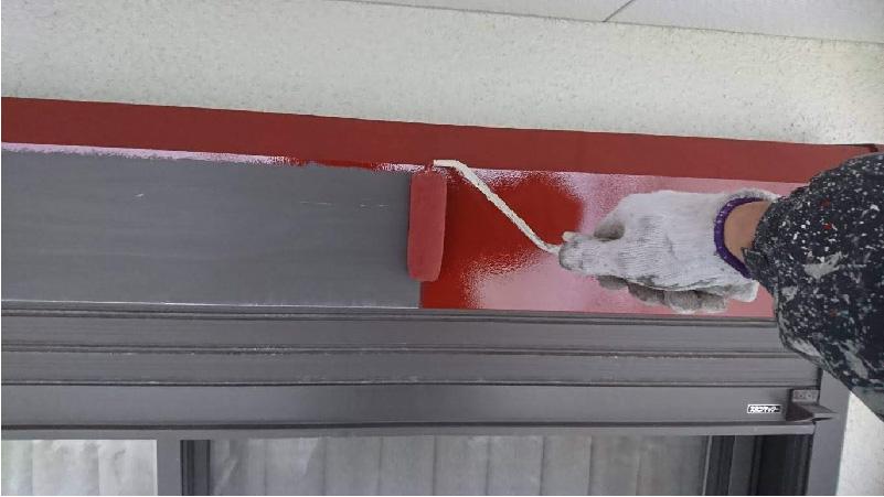 シャッターボックス塗装の錆び止め