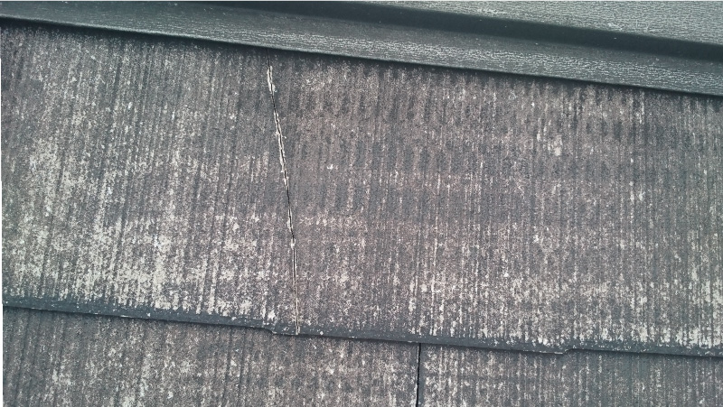 四街道市の屋根塗装工事の施工前の様子