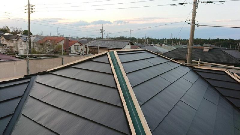 屋根カバー工法の本体の施工後の状態