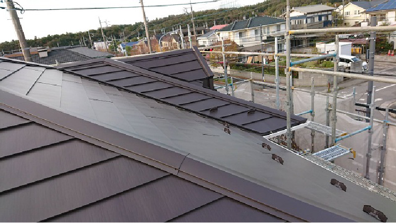 屋根カバー工法の施工後の状態