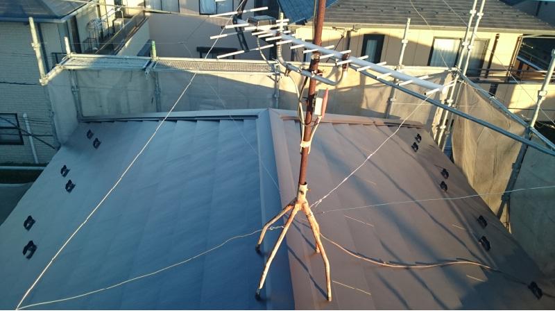 練馬区の屋根カバー工法の施工後の様子