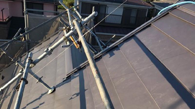 野田市の屋根カバー工法リフォームの施工後の様子