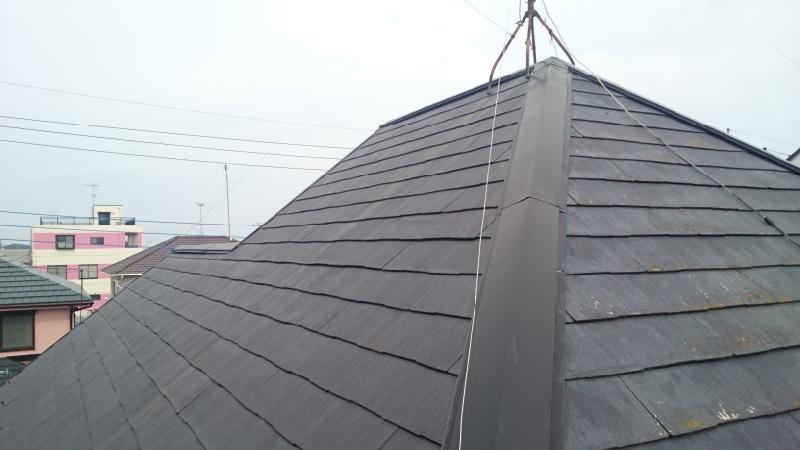 野田市の屋根カバー工法の施工前の状態